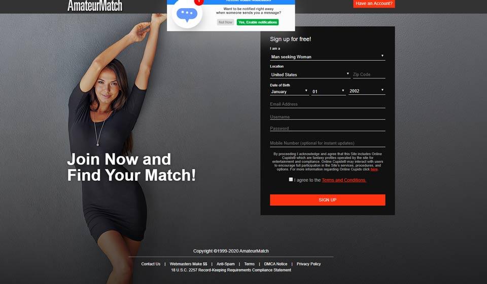AmateurMatch Review